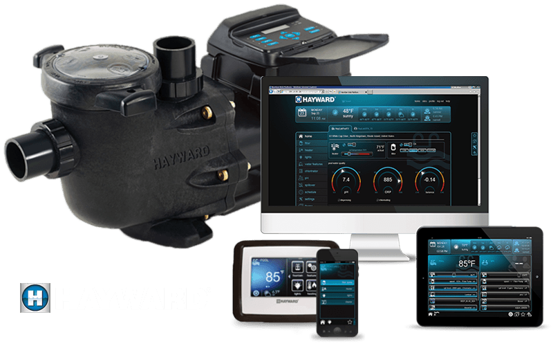 Hayward pool pump with software installed