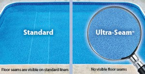 Seamless liner compared to a standard liner with seams