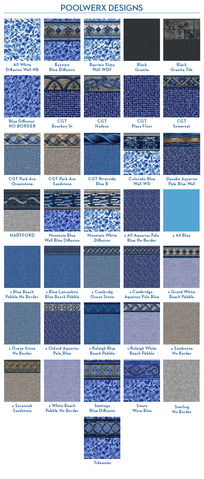 Pool liner designs by PoolWerx