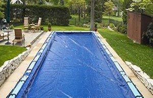 long swimming pool cover