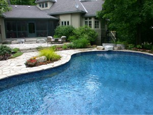 Kidney-shaped in-ground pool - beautiful Nepean back yard