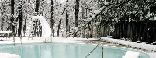 Swimming pool safety covers can help protect your pool from harsh winter weather.