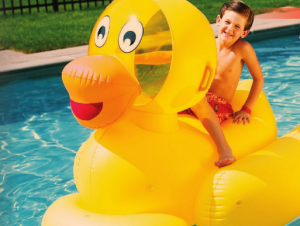 Have some fun with this duck floatie!