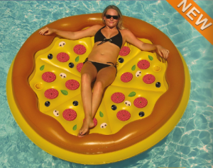 Have fun with this pizza floatie!