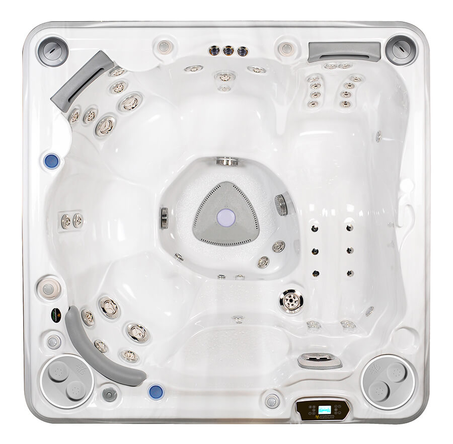 HydraPool 750 hot tub top view