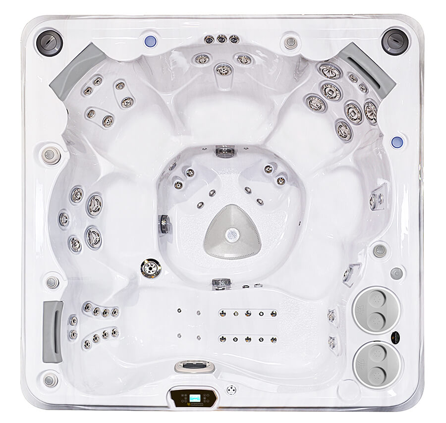 HydraPool 770 hot tub top view