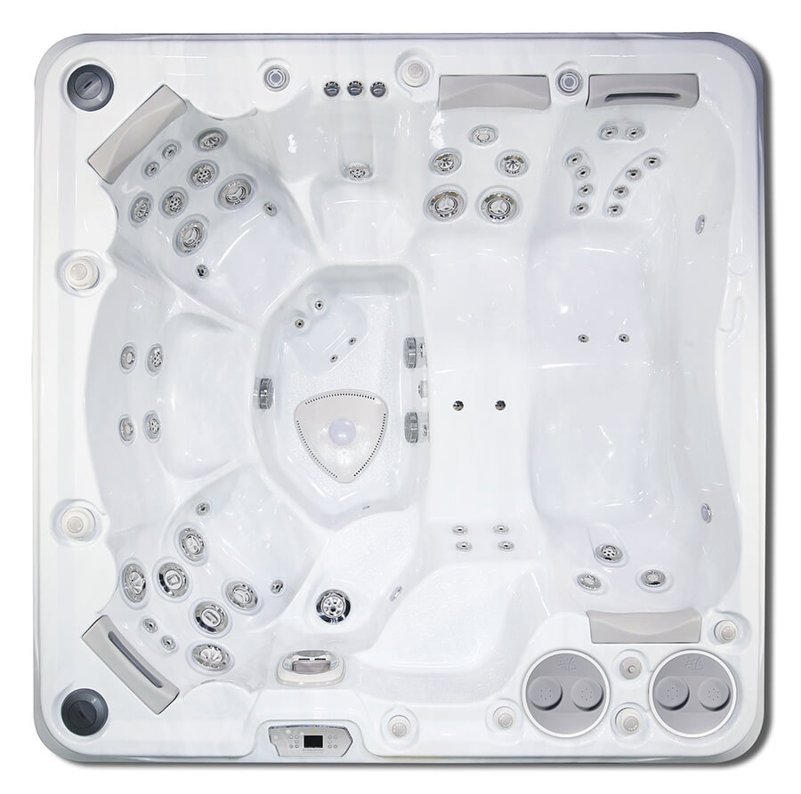 HydraPool 790 hot tub top view