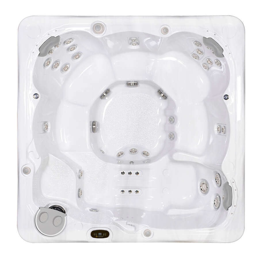 Serenity 6000 HydraPool hot tub top view