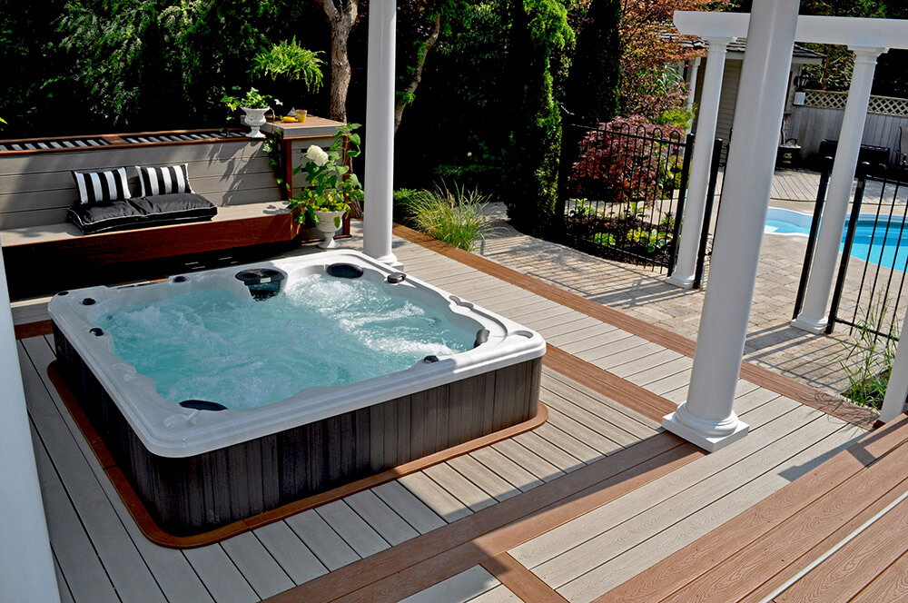 HydraPool installed inset in beautiful decking