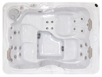 3 to 4 person hot tub - top view